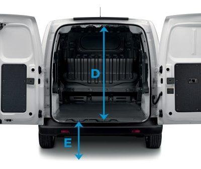 Licznik Nissan e-NV200 przestrzeń ładunkowa - Wypożyczalnia samochodów luksusowych Mestenza Trójmiasto Rafał Grzebin